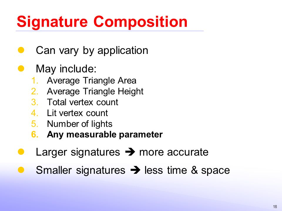 Signature Composition