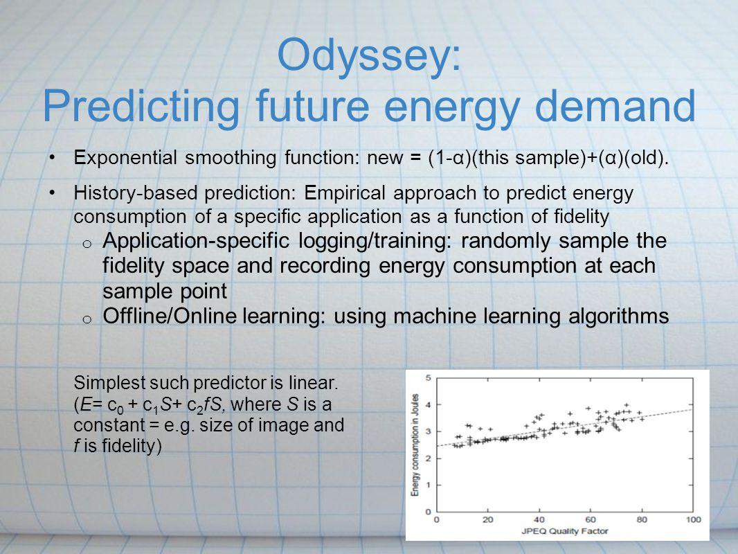 Odyssey: Predicting future energy demand