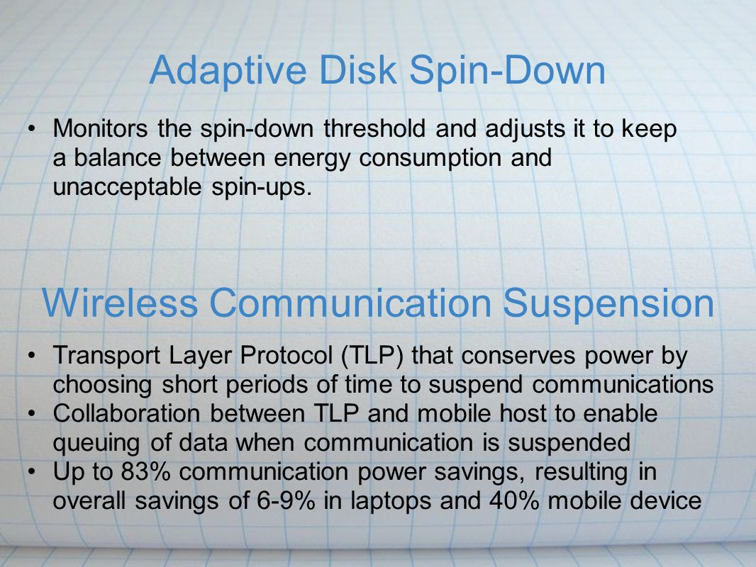 Adaptive Disk Spin-Down