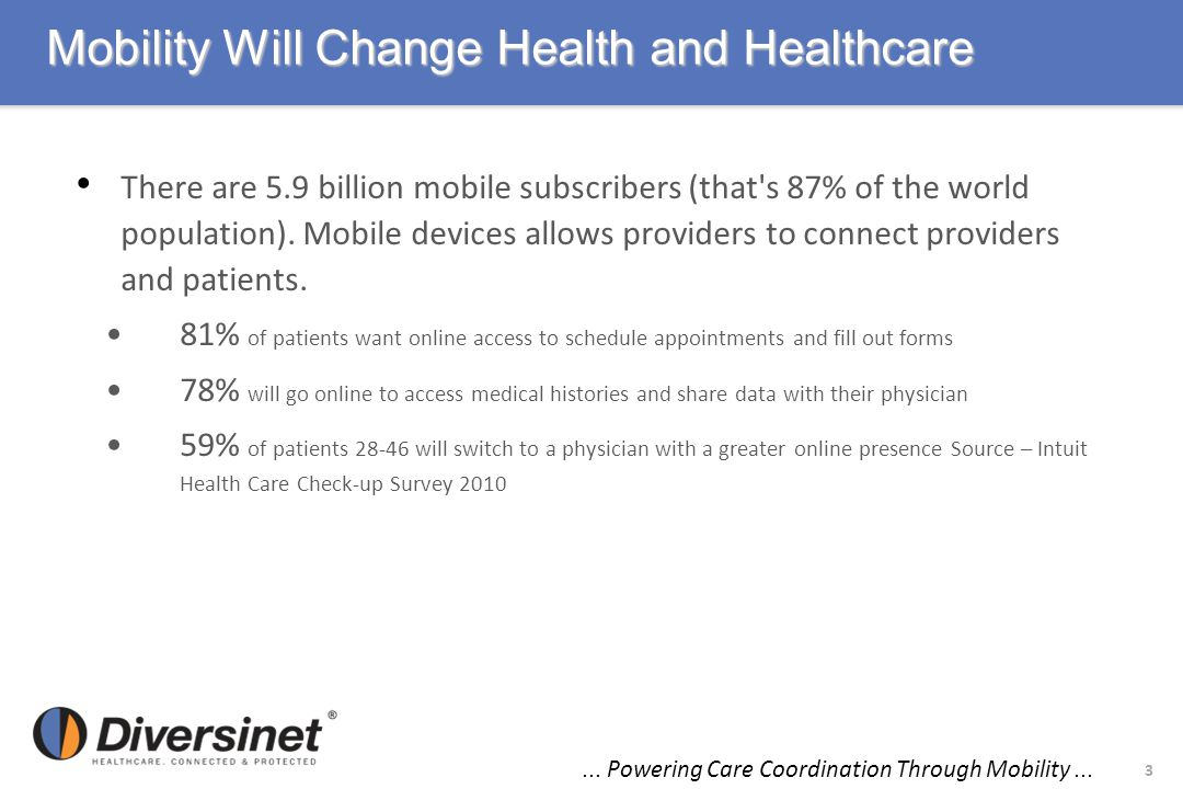 Mobility Will Change Health and Healthcare