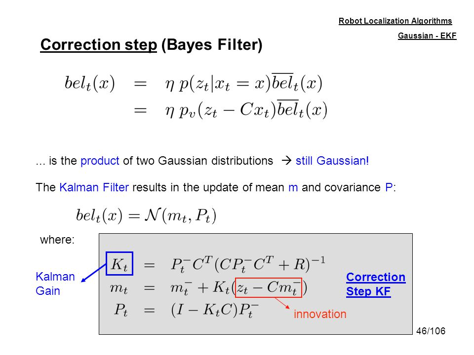 Correction step (Bayes Filter)