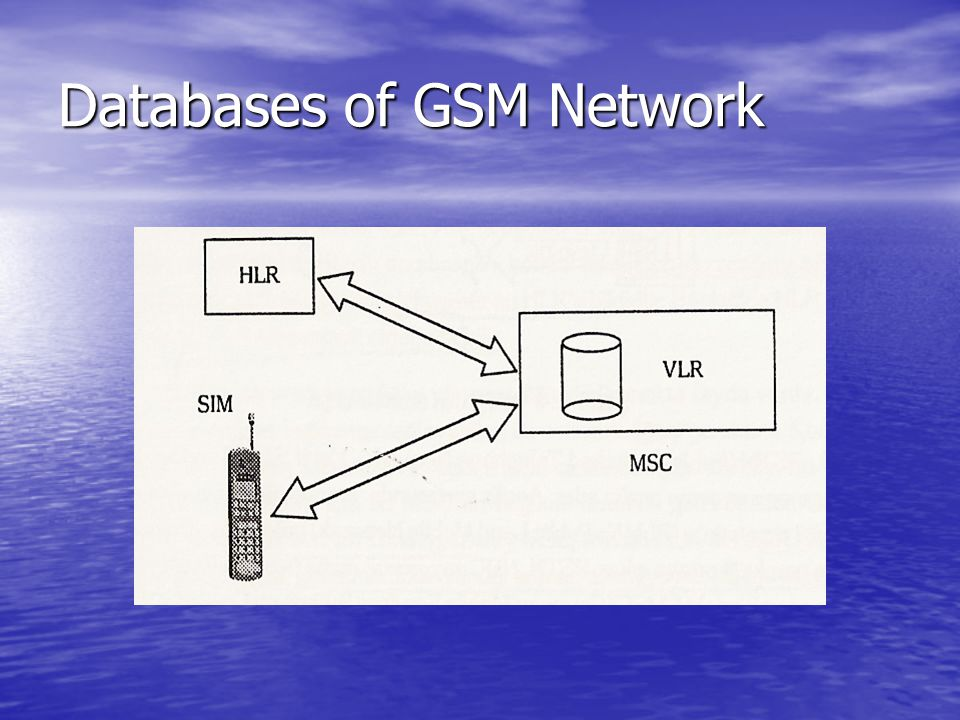 Databases of GSM Network