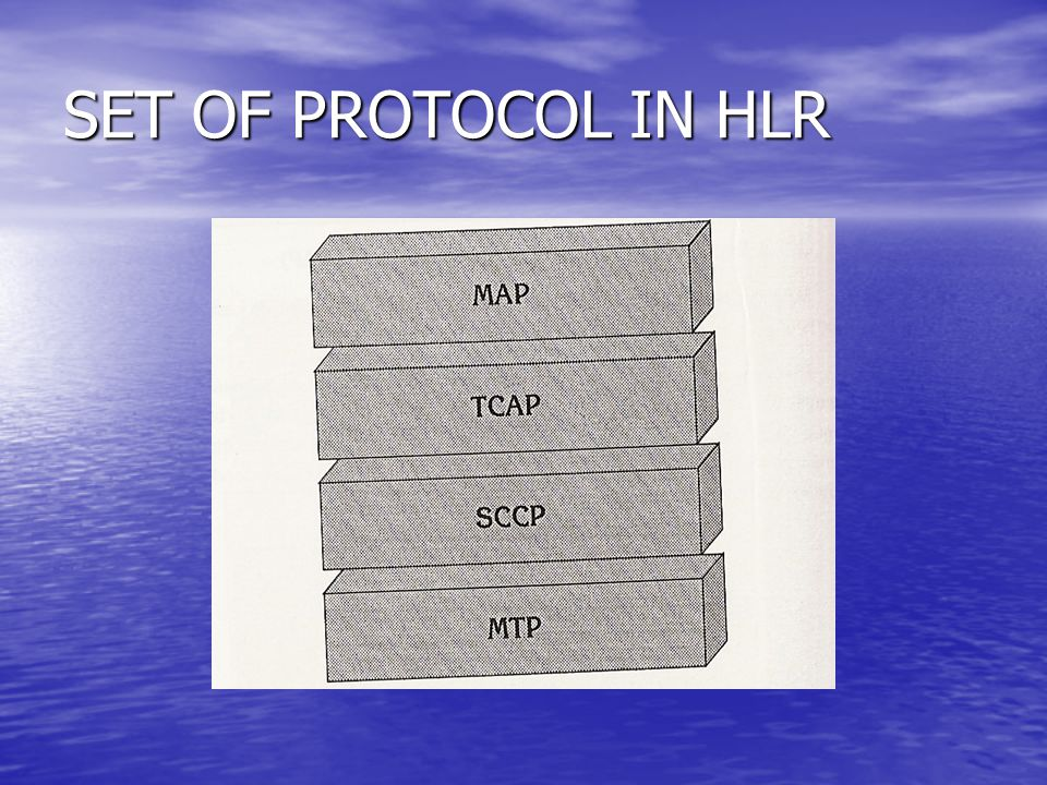 SET OF PROTOCOL IN HLR