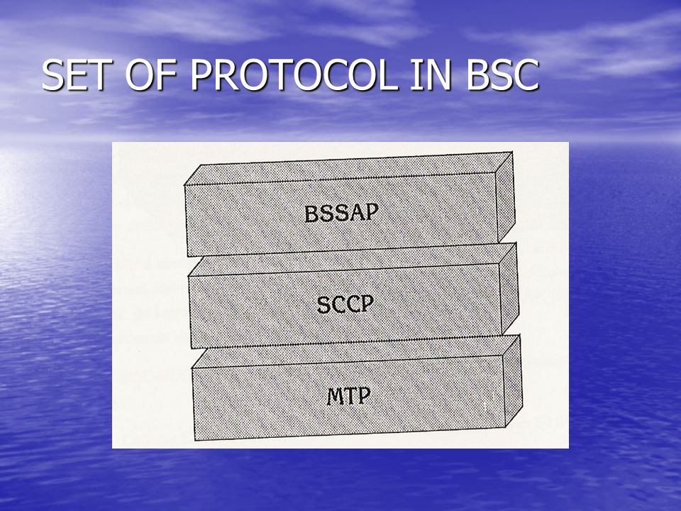 SET OF PROTOCOL IN BSC