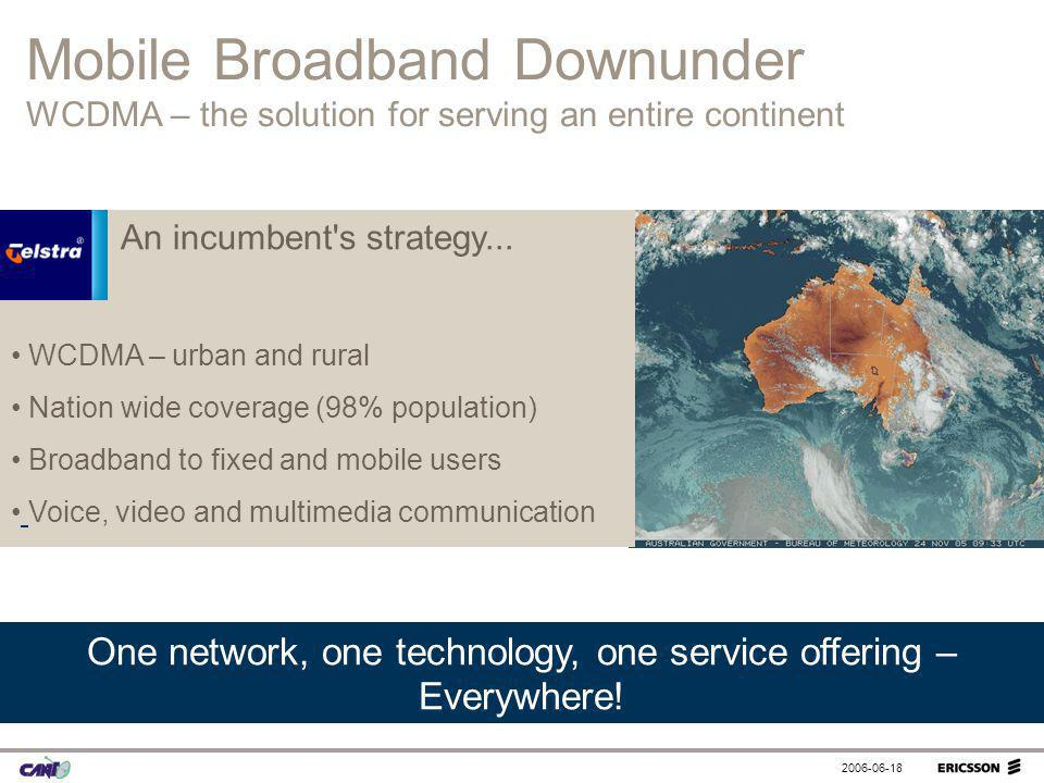 One network, one technology, one service offering – Everywhere!