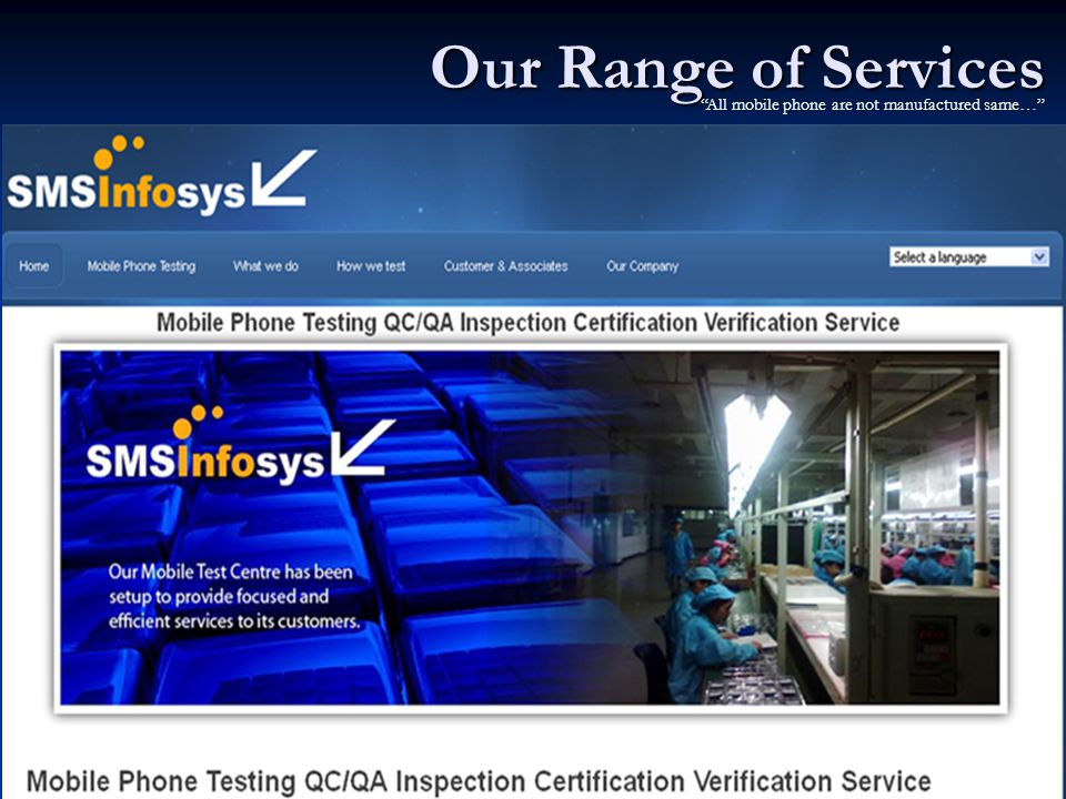 Our Range of Services All mobile phone are not manufactured same…