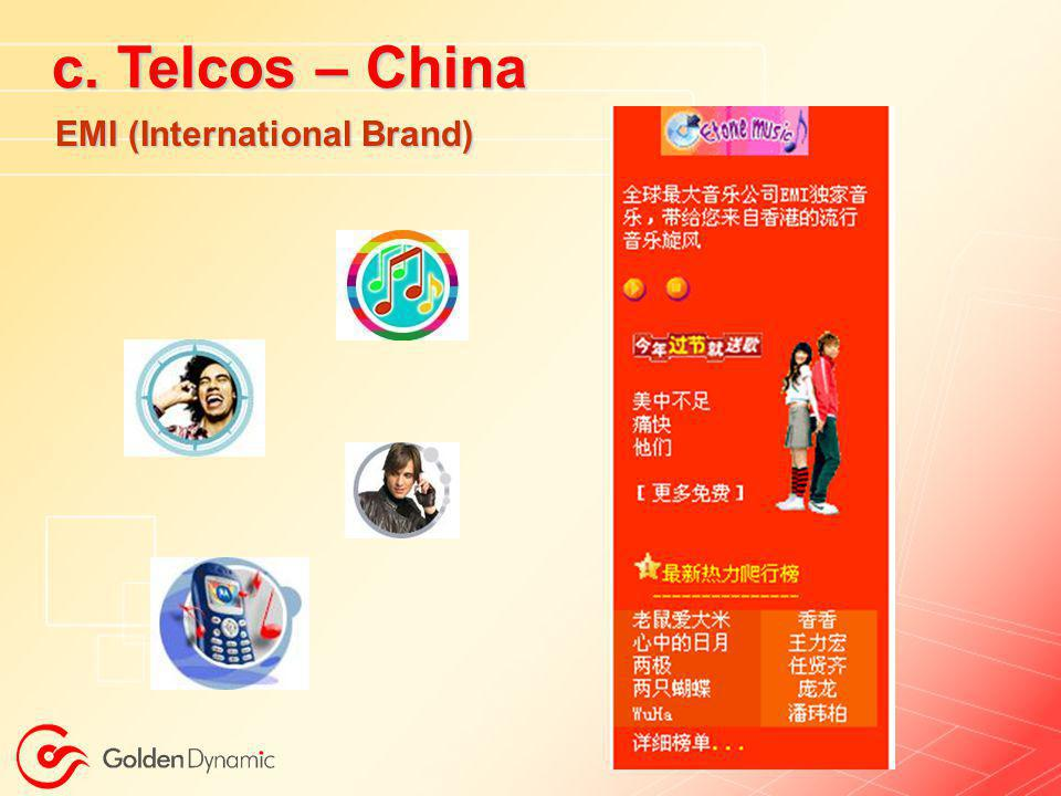 c. Telcos – China EMI (International Brand)