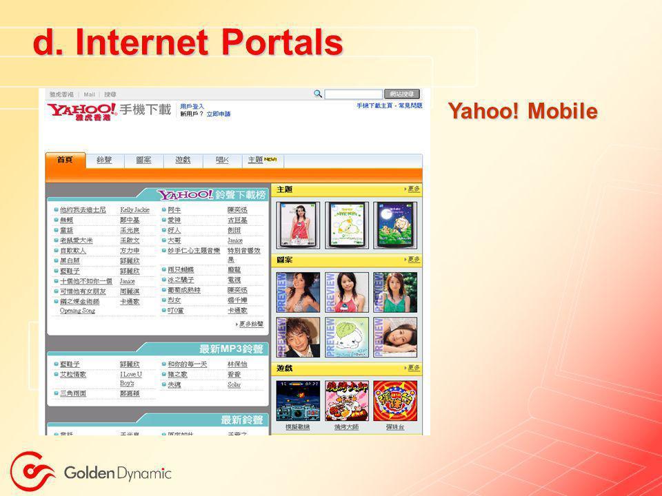 d. Internet Portals Yahoo! Mobile