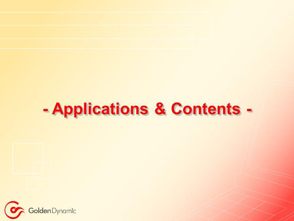 - Applications & Contents -