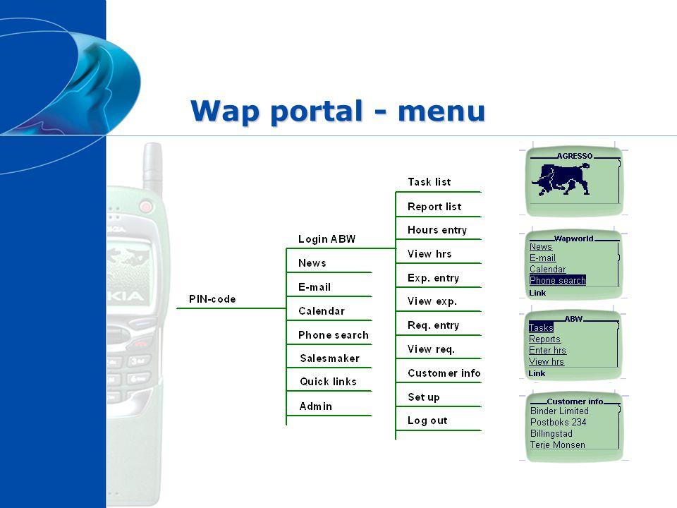 Wap portal - menu
