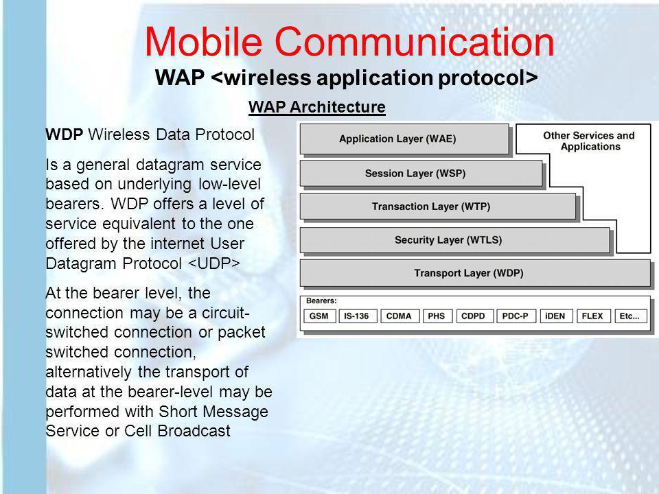 Mobile Communication WAP <wireless application protocol>