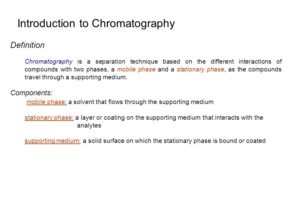 Introduction to Chromatography