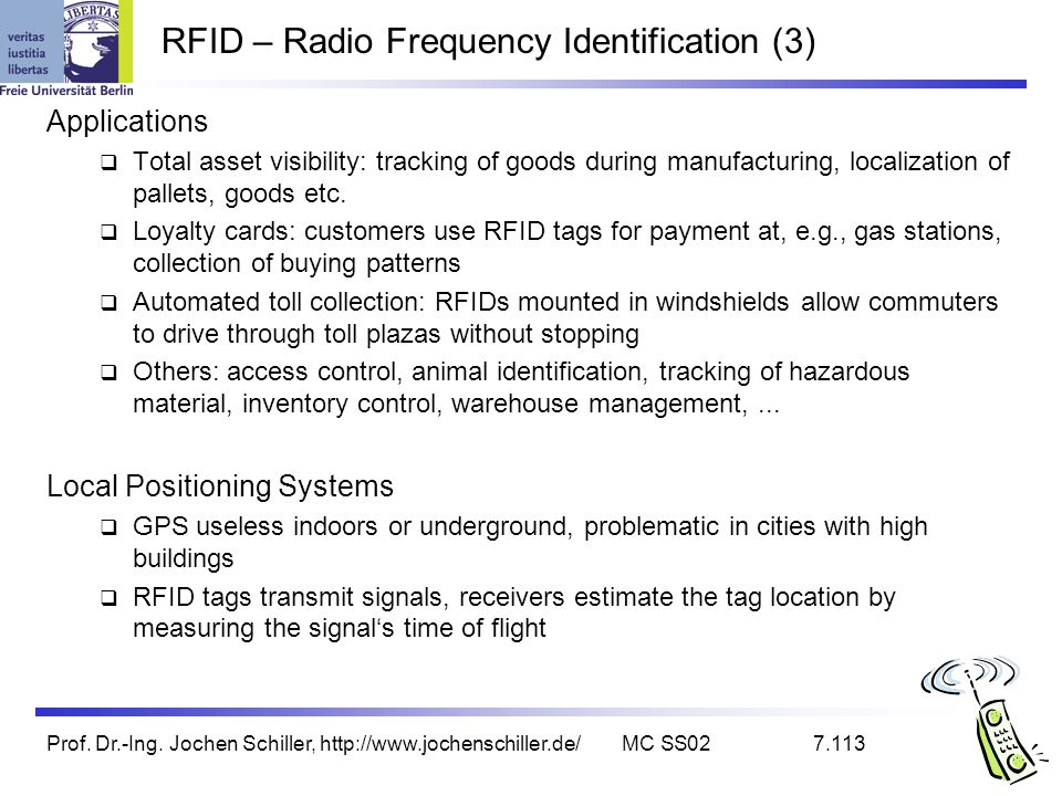 RFID – Radio Frequency Identification (3)