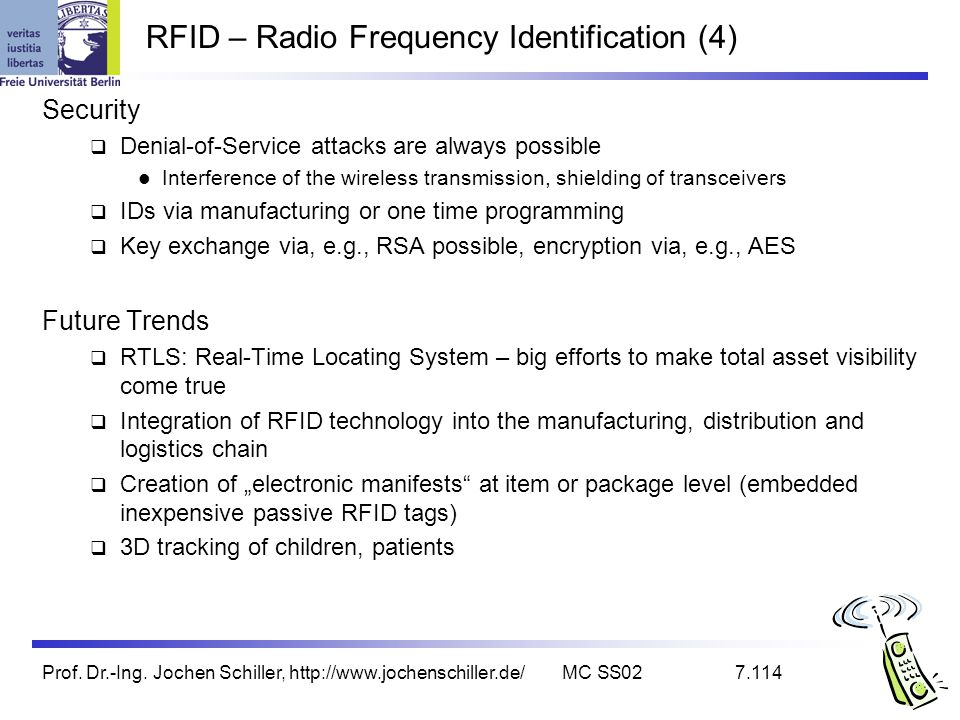 RFID – Radio Frequency Identification (4)