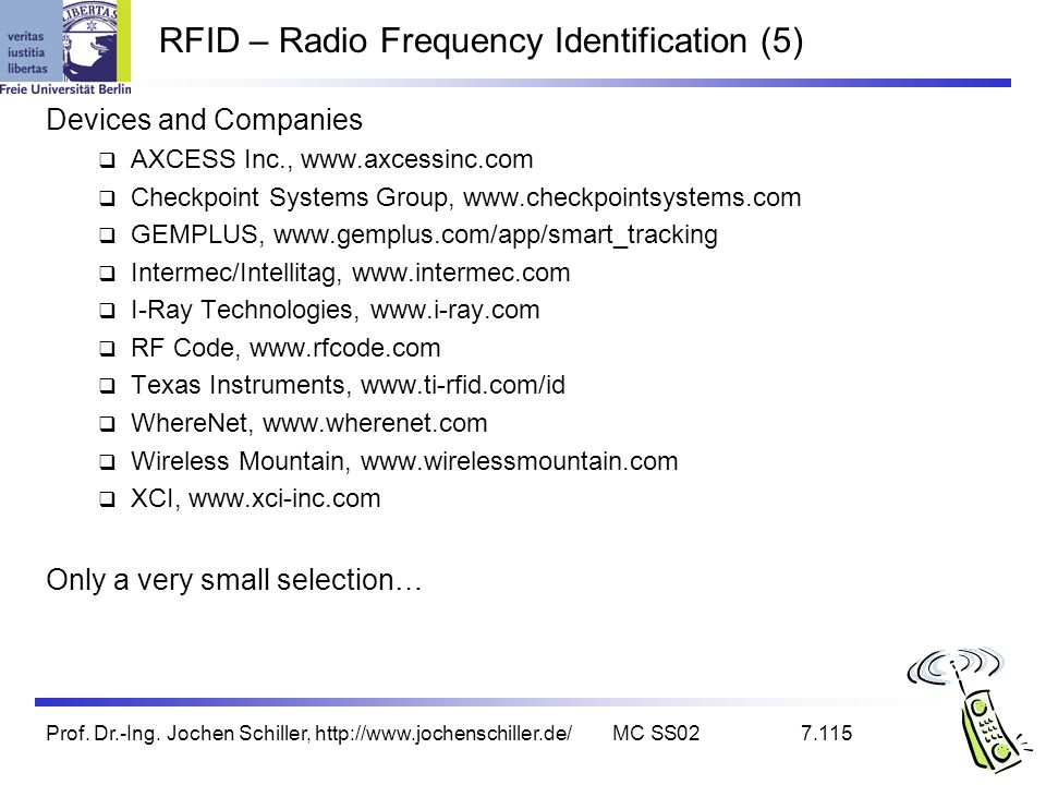 RFID – Radio Frequency Identification (5)