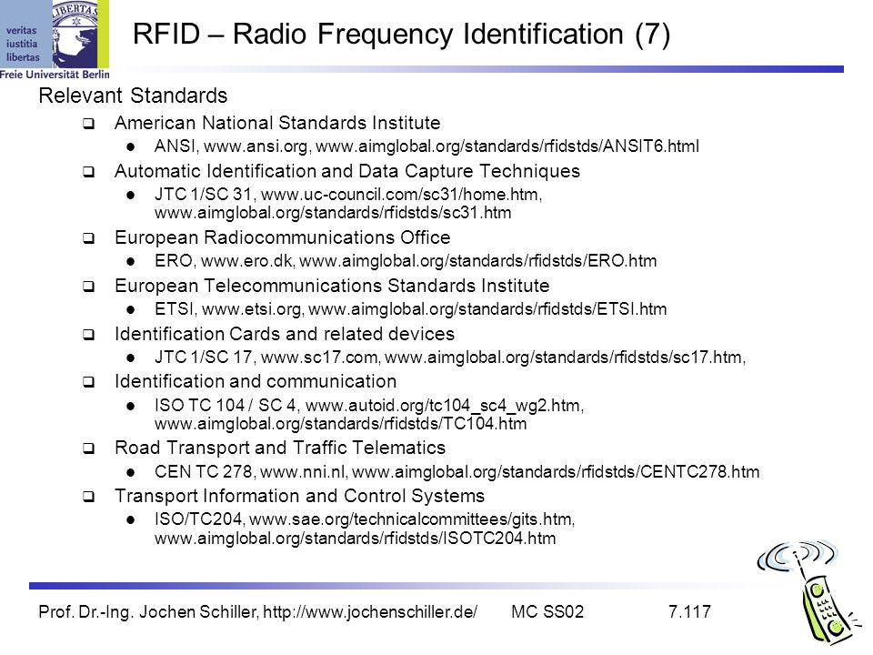 RFID – Radio Frequency Identification (7)