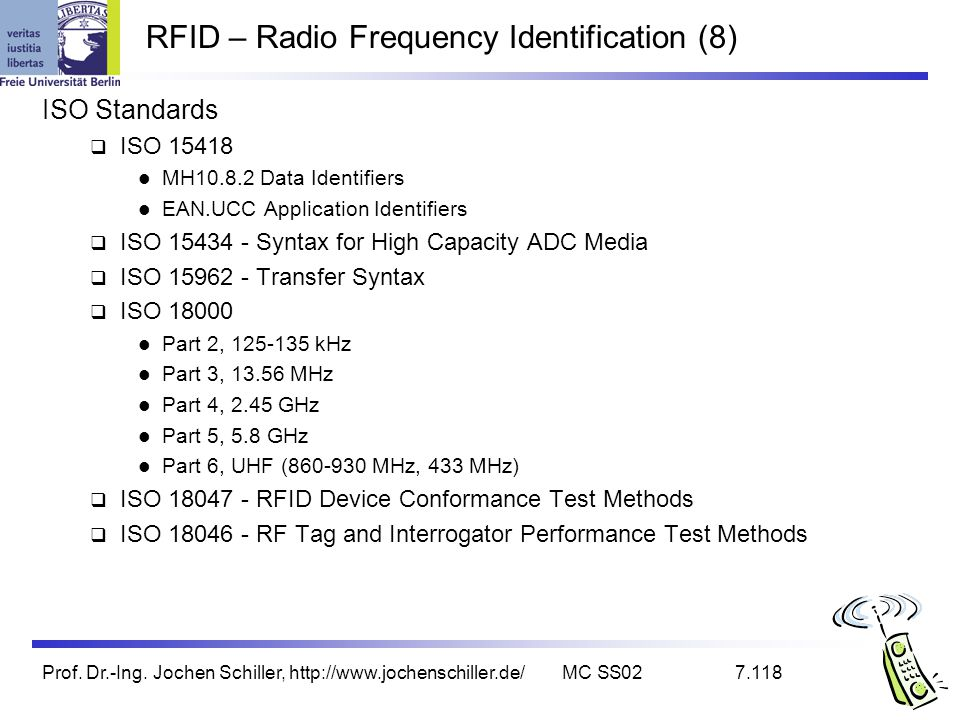 RFID – Radio Frequency Identification (8)