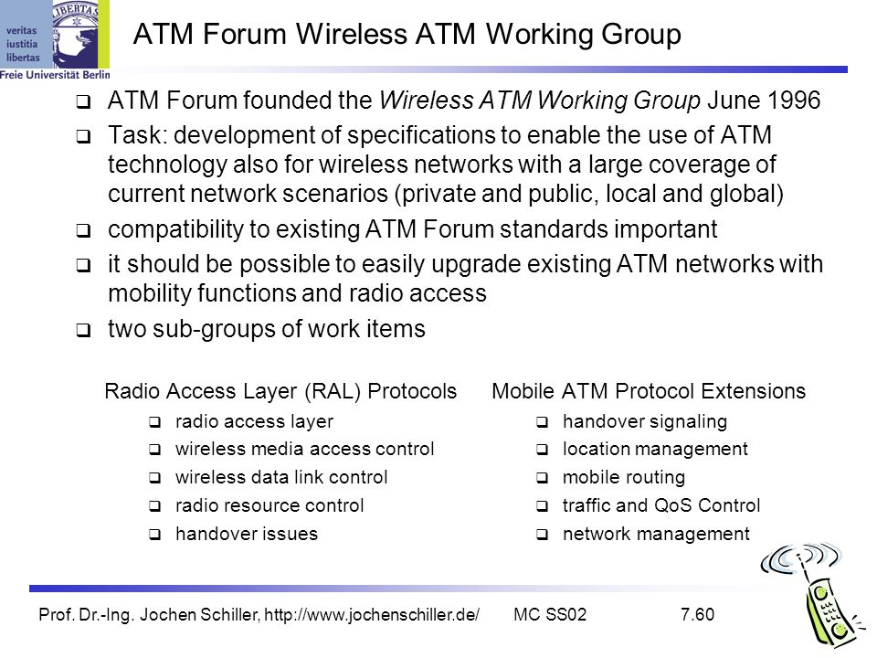 ATM Forum Wireless ATM Working Group