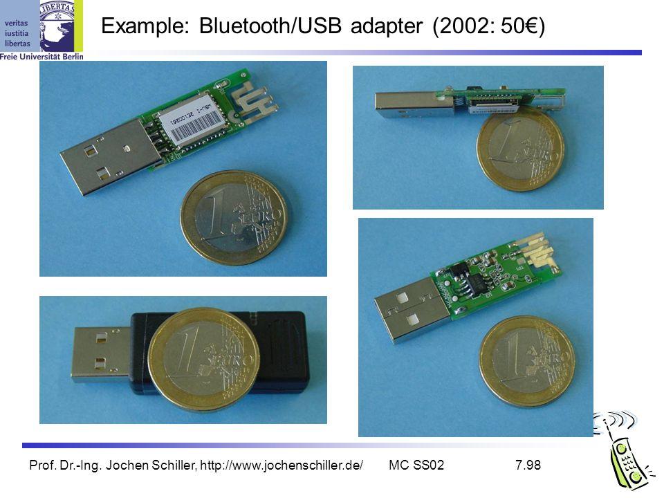 Example: Bluetooth/USB adapter (2002: 50€)