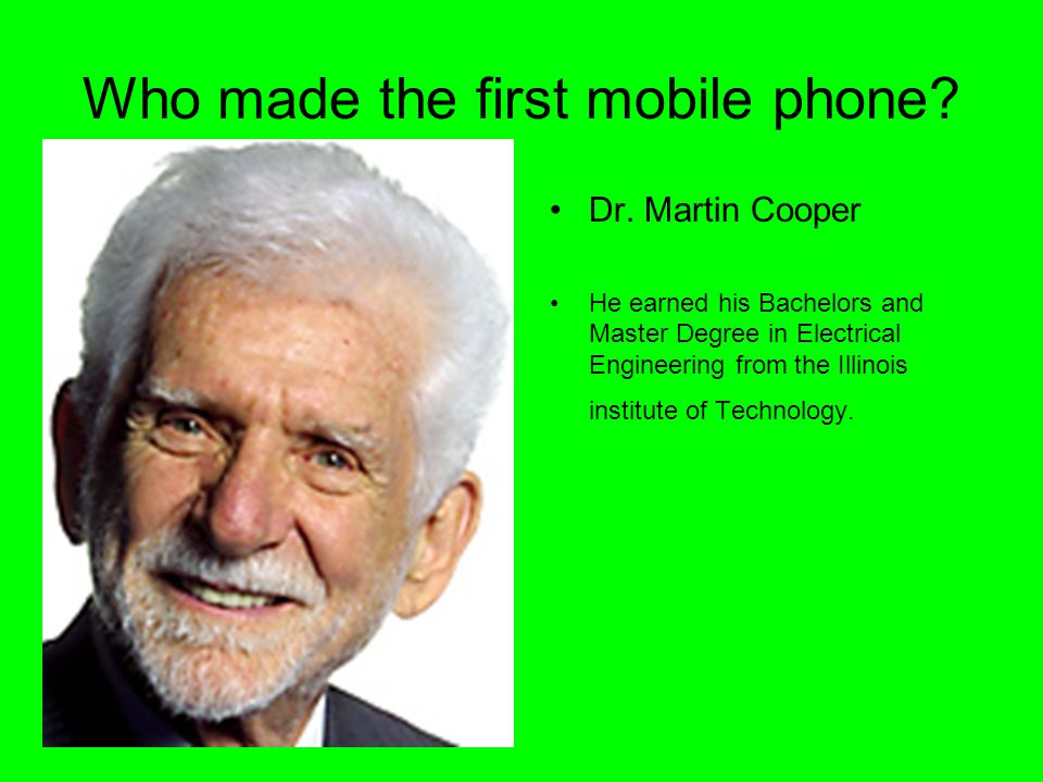 Who made the first mobile phone