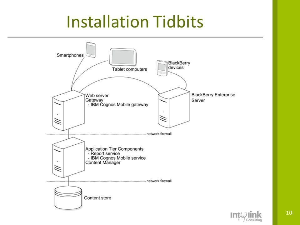 Installation Tidbits