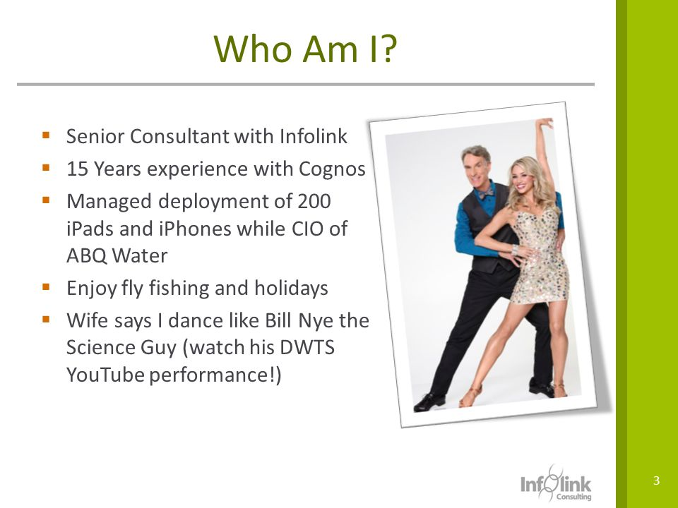 Who Am I Senior Consultant with Infolink