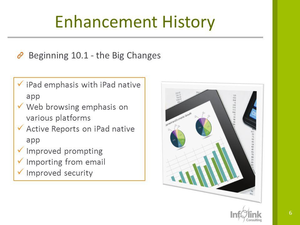 Enhancement History Beginning 10.1 - the Big Changes