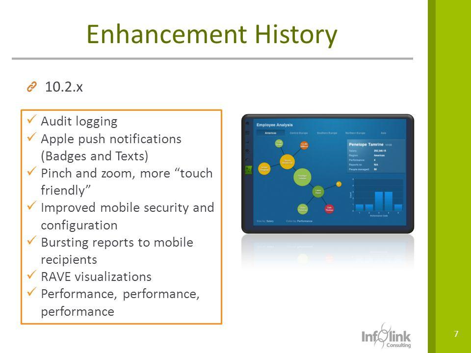 Enhancement History 10.2.x Audit logging