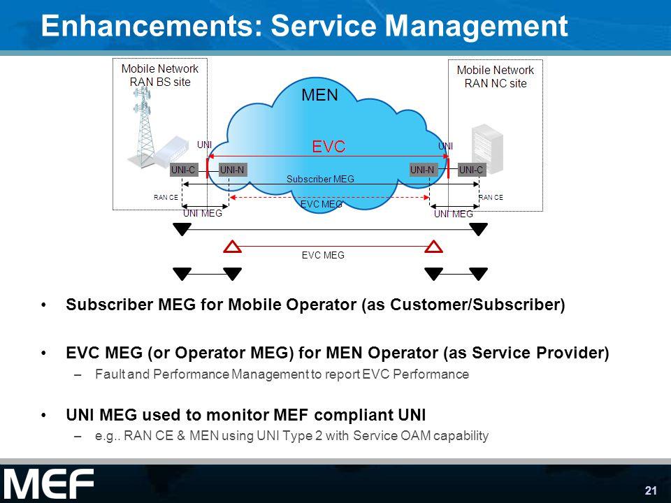 Enhancements: Service Management