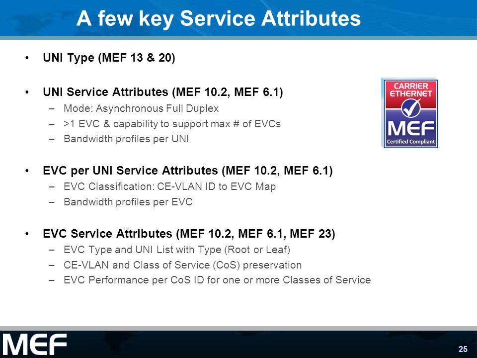 A few key Service Attributes