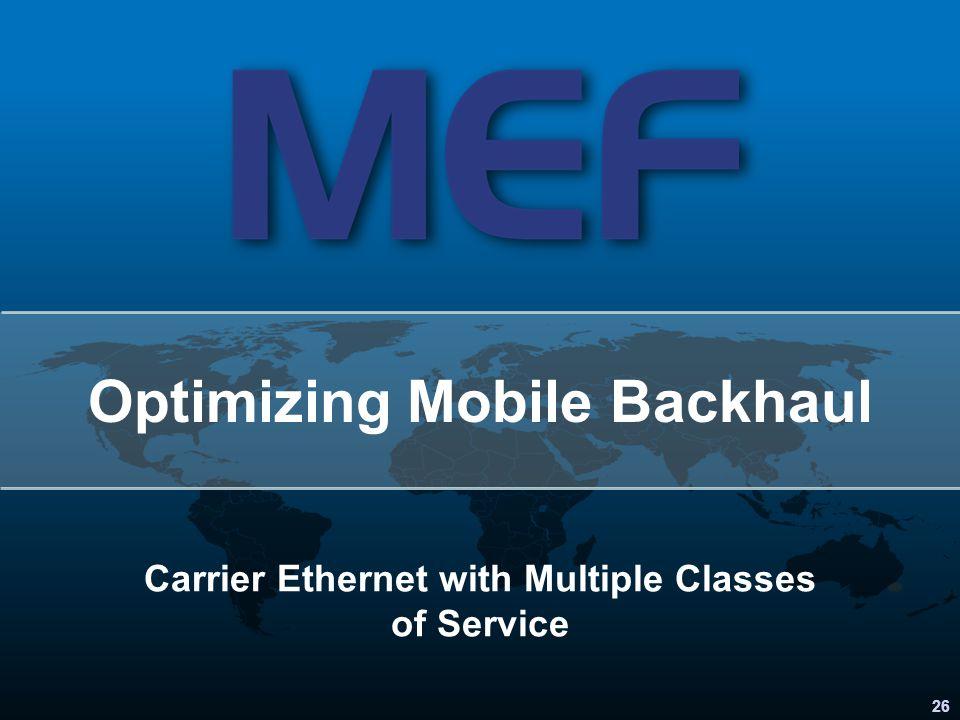 Optimizing Mobile Backhaul