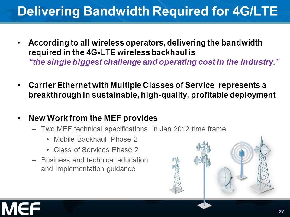 Delivering Bandwidth Required for 4G/LTE