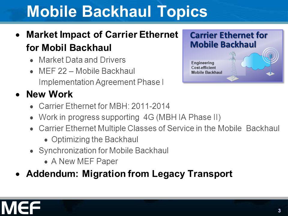 Mobile Backhaul Topics