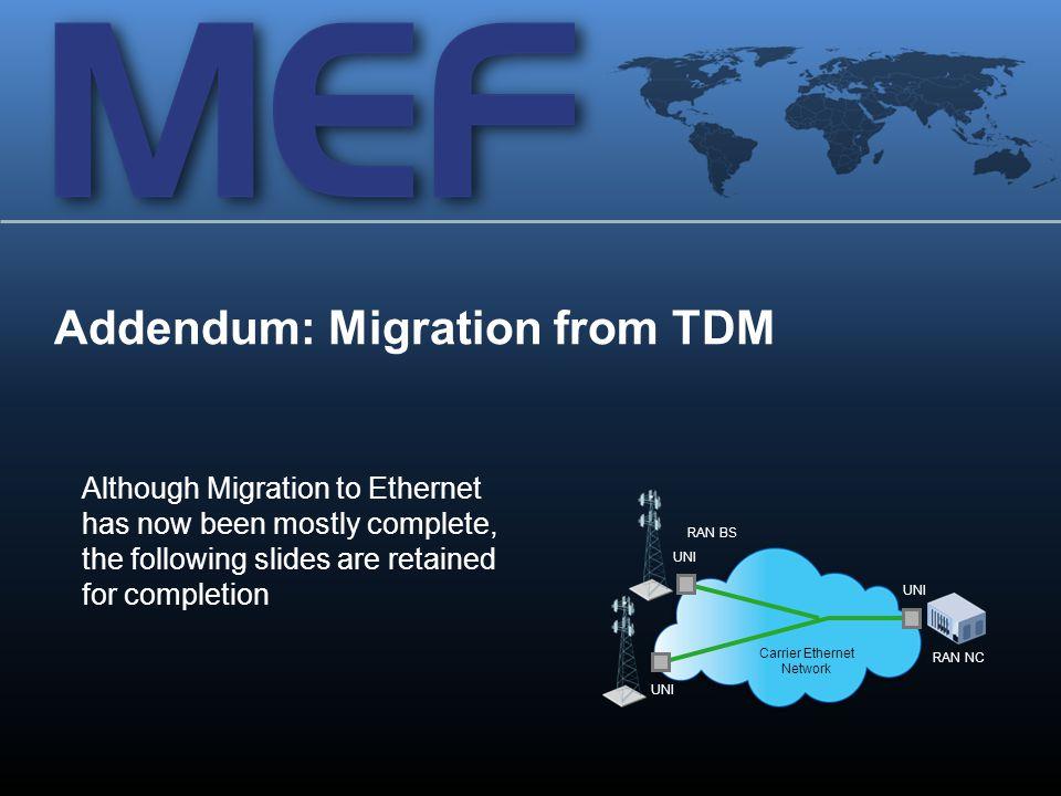 Addendum: Migration from TDM