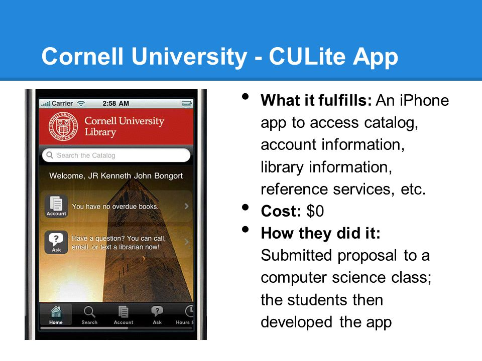 Cornell University - CULite App