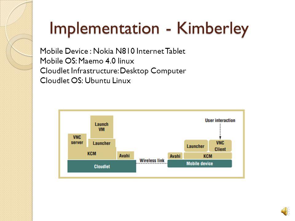 Implementation - Kimberley