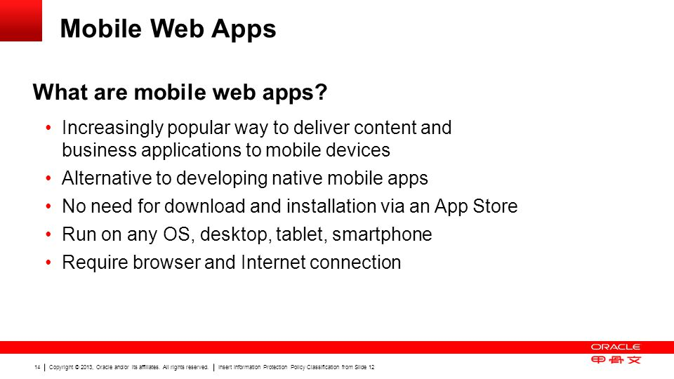 Mobile Web Apps What are mobile web apps