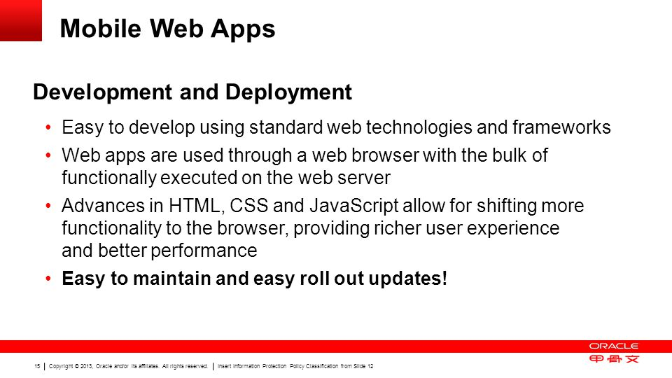 Mobile Web Apps Development and Deployment