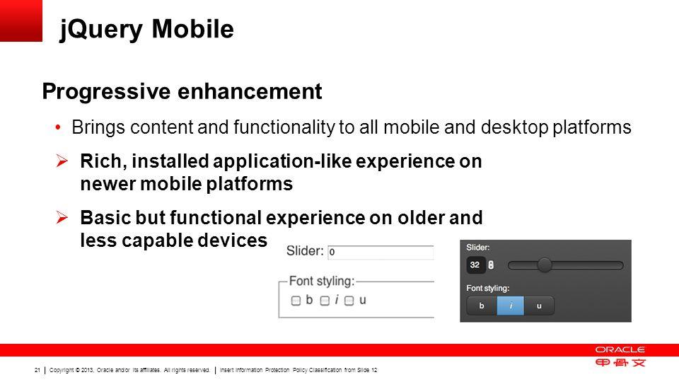jQuery Mobile Progressive enhancement