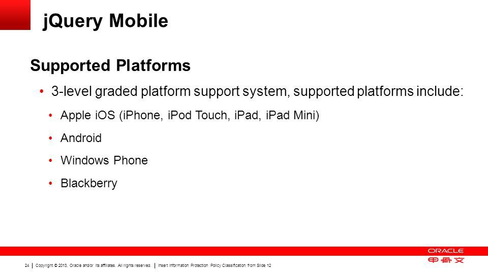 jQuery Mobile Supported Platforms
