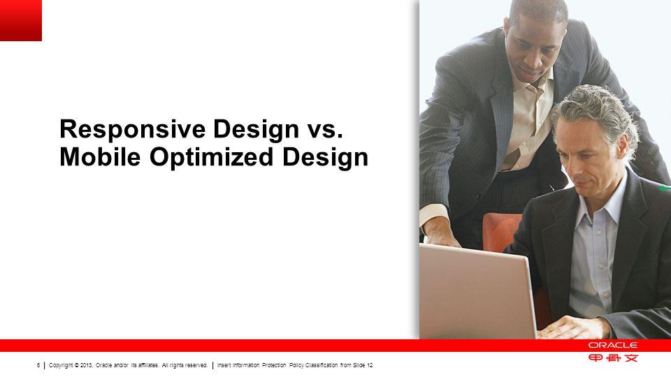 Responsive Design vs. Mobile Optimized Design