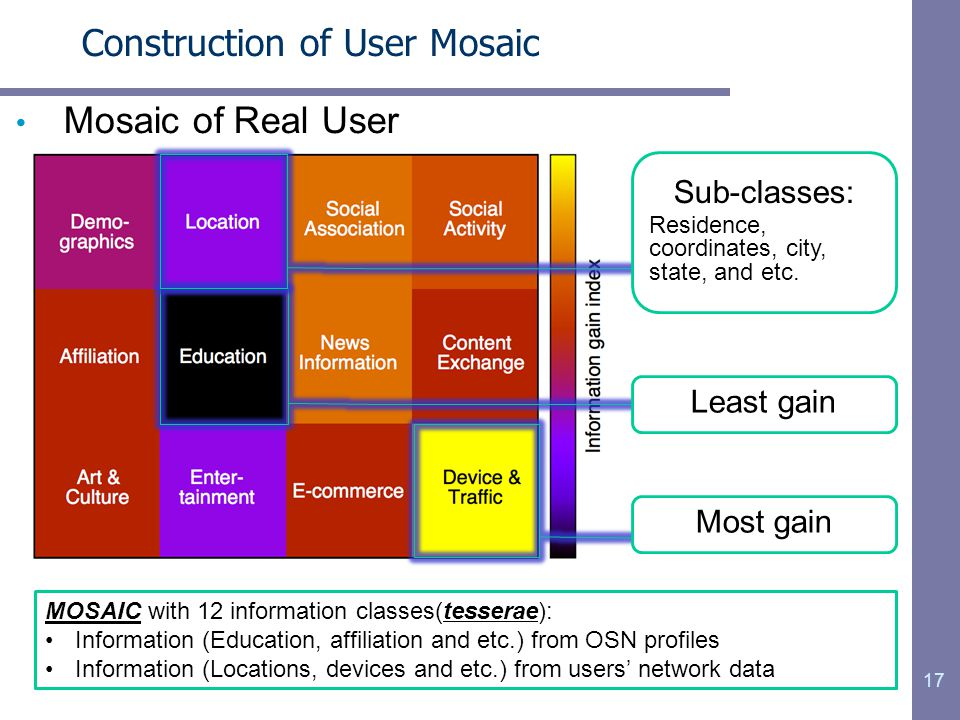 Construction of User Mosaic