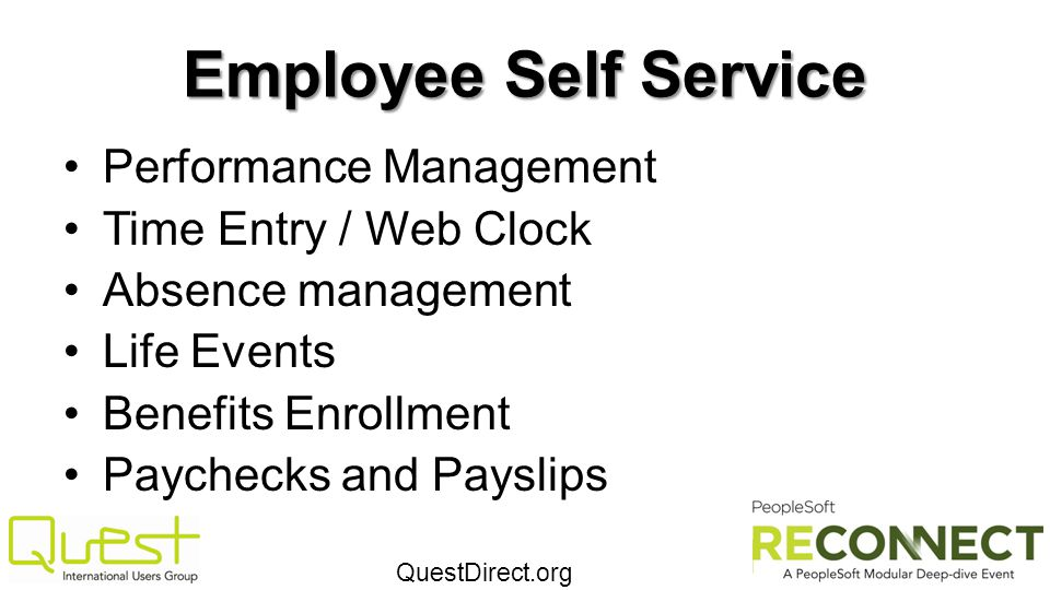 Employee Self Service Performance Management Time Entry / Web Clock
