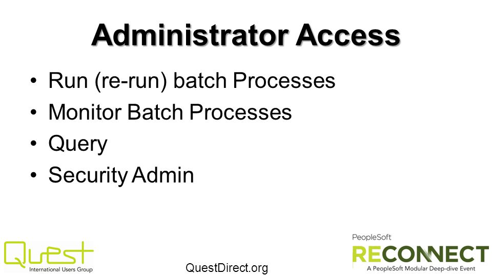 Administrator Access Run (re-run) batch Processes