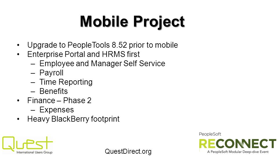 Mobile Project Upgrade to PeopleTools 8.52 prior to mobile