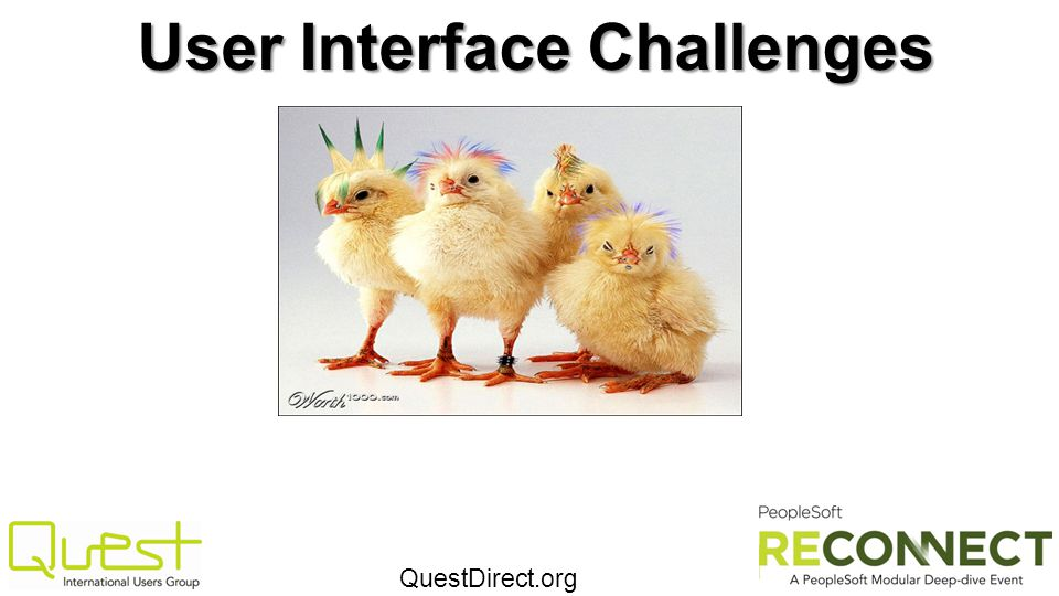 User Interface Challenges