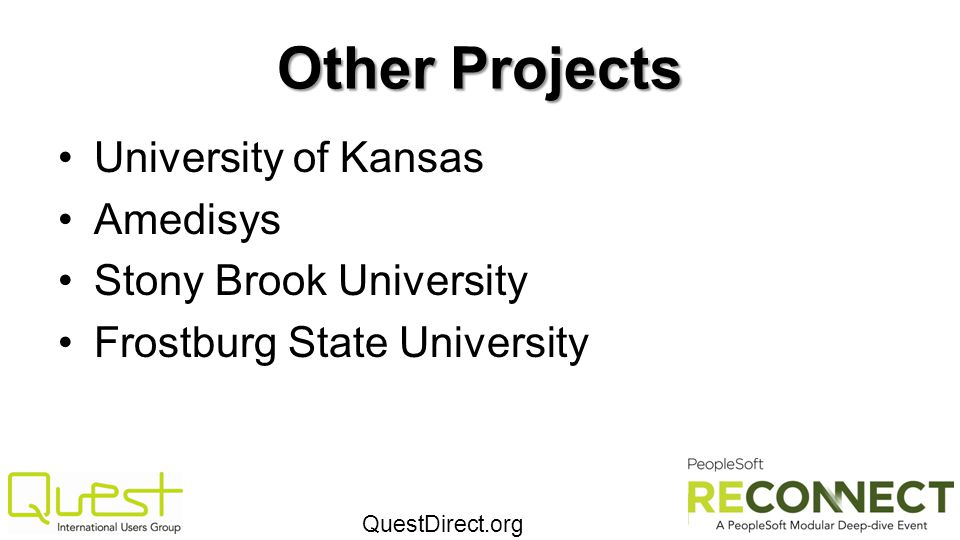 Other Projects University of Kansas Amedisys Stony Brook University