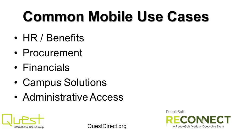 Common Mobile Use Cases