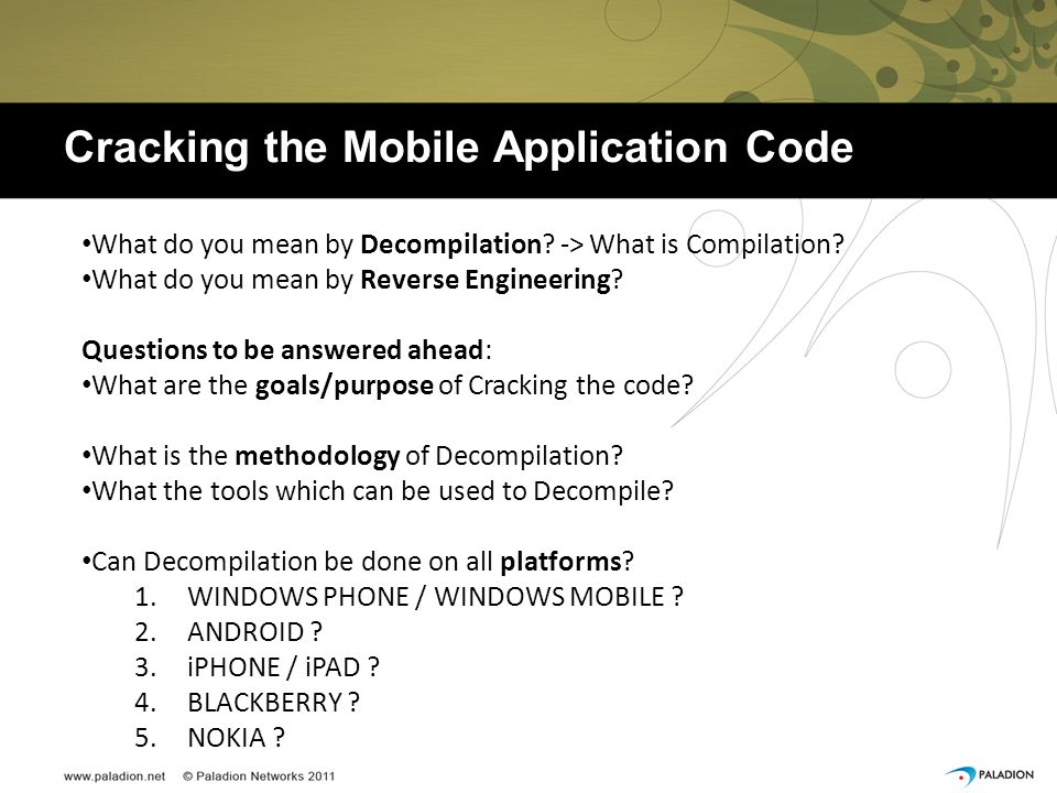 Cracking the Mobile Application Code