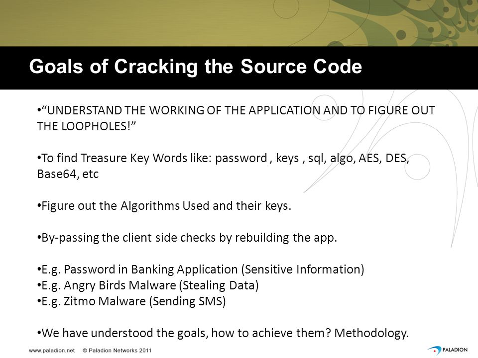 Goals of Cracking the Source Code